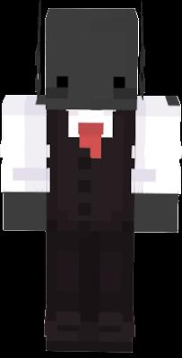 un ajolote negro elegante xD
