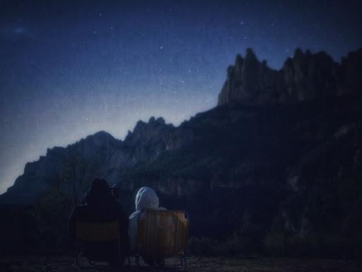 Ovnis en la montaña de montserrat