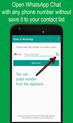 Open in WhatsApp (one click to chat)  screenshots 4