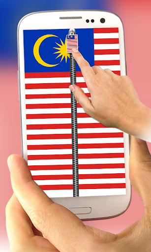 Malaysia Flag ZipperLockScreen