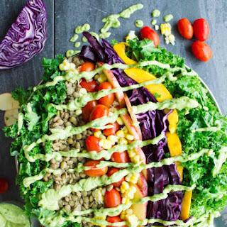 Mexican Style Lentil Detox Salad.