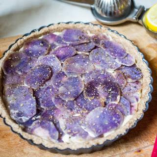 Cheesy Purple Potato Tart [Vegan]