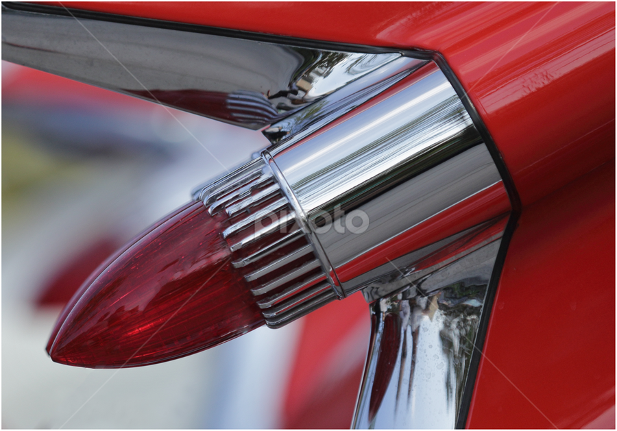Lipstick by Ray Beauchamp - Transportation Automobiles ( classic car, shallow dof, red lights, closeup, red car, rear tail light,  )