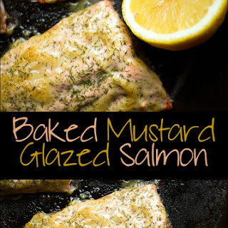Baked Mustard Glazed Salmon Fillets.