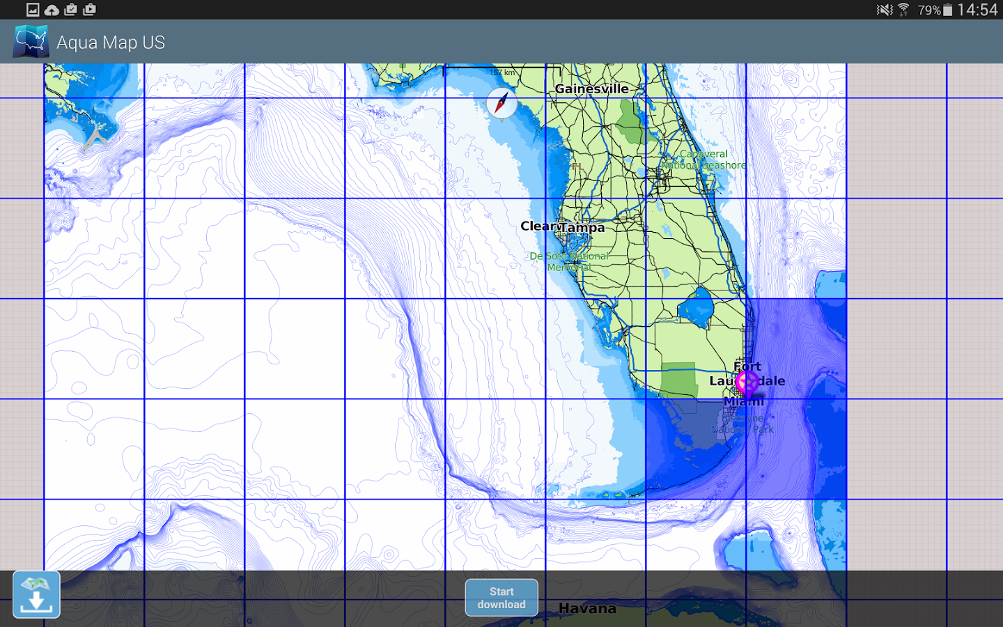 Aqua Map USA Marine GPS- screenshot