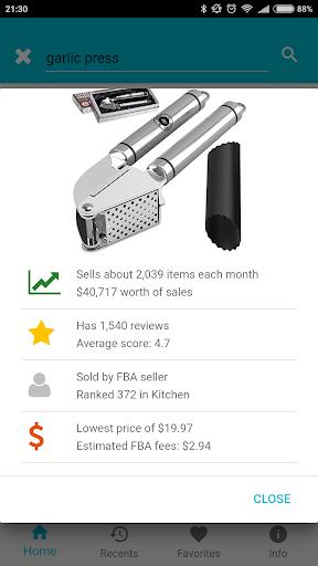 amzme - Amazon Research Tool 1.1.10 screenshots 3