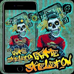 Cool Street Graffiti White Skull Game 2D Theme