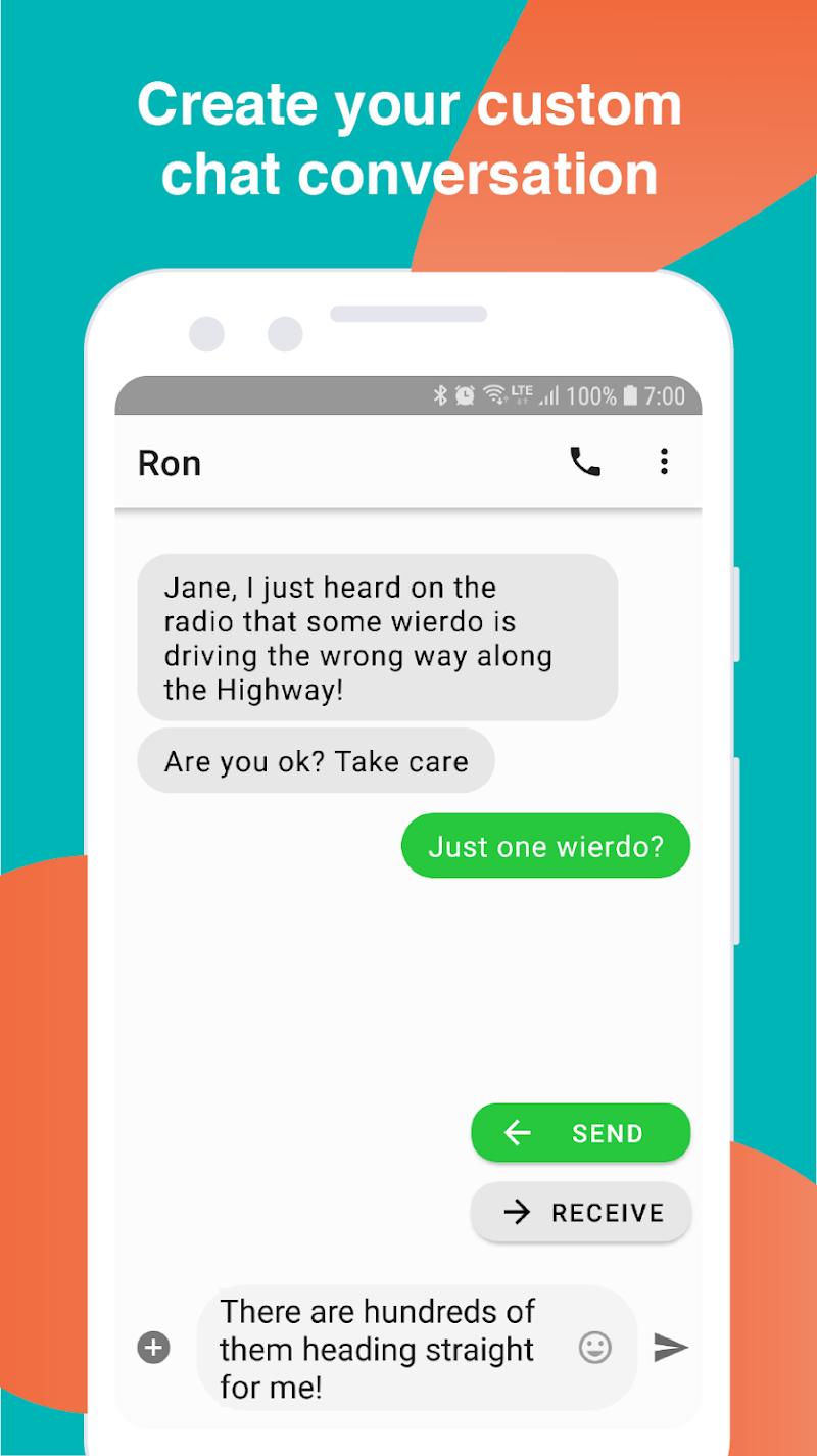 Fake Text Message Screenshot 0