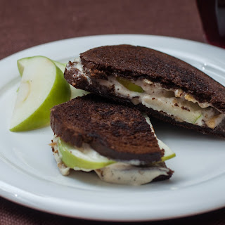 Boursin, Walnut, and Apple Grilled Cheese on Pumpernickel