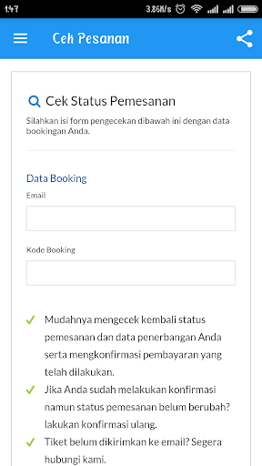 Bebas Booking - Cara mudah pesan tiket pesawat for PC
