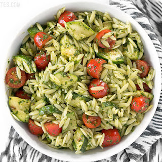 Zucchini and Orzo Salad with Chimichurri