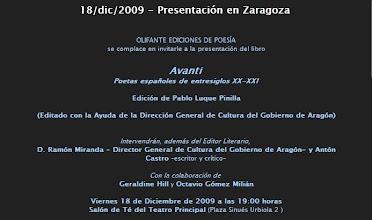 Photo: Presentación en Zaragoza - 18/dic/2009
