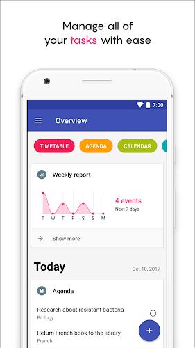 School Planner Android App Screenshot