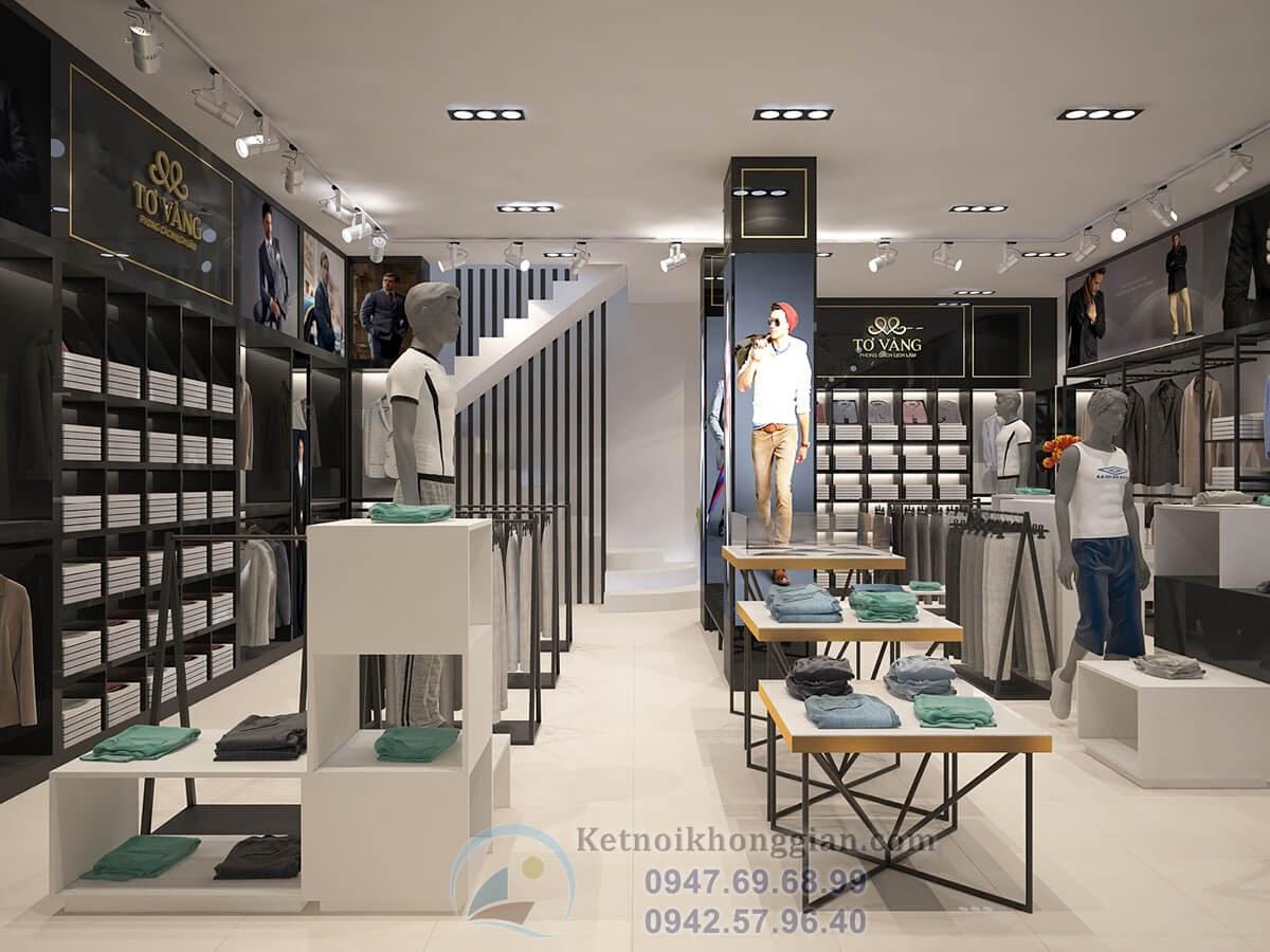 thiết kế cửa hàng thời trang nam cao cấp