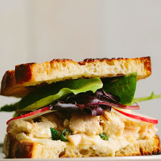 Tuna Sandwich with Pickled Fennel and Radish + White Bean Spread.