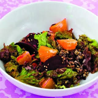 Wild Rice Salad with Oranges and Roasted Beets.