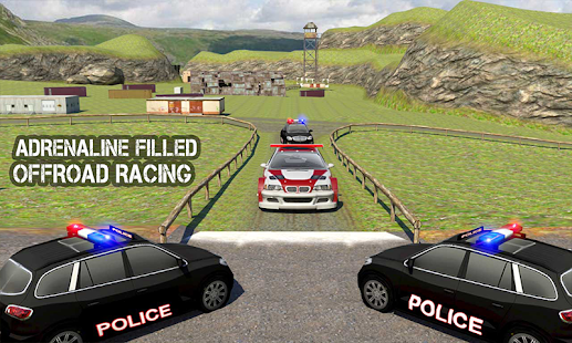 Offroad Police Car Escape Plan: Crime City Chase - náhled