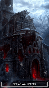 Haunted House Live Wallpaper By Cute Wallpapers And Backgrounds Poster