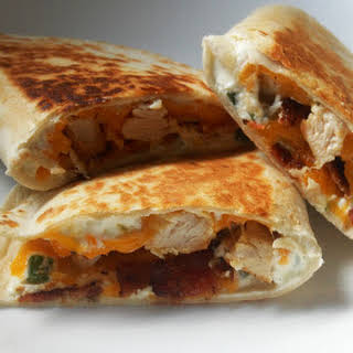 Jalapeno Popper Chicken Quesadillas.