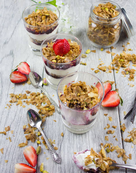 Baklava Yogurt Parfait with Homemade Baklava Crumbles