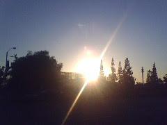 Photo: Sunset over knotts Berry Farm.