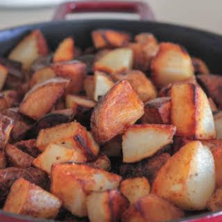 Crispy Pan Roasted Potatoes.