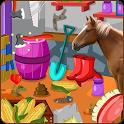 Clean up horse farm icon