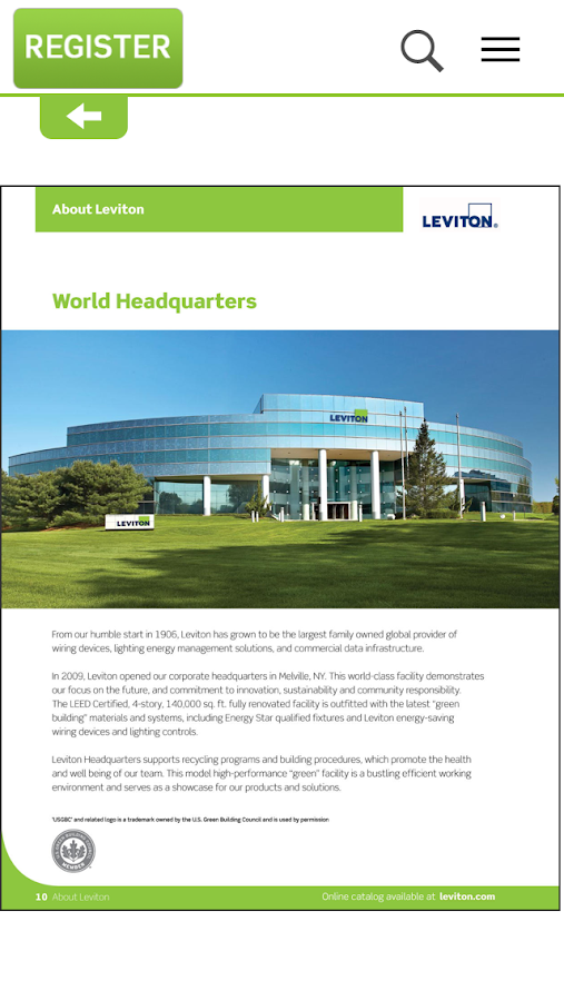 Leviton Library- screenshot