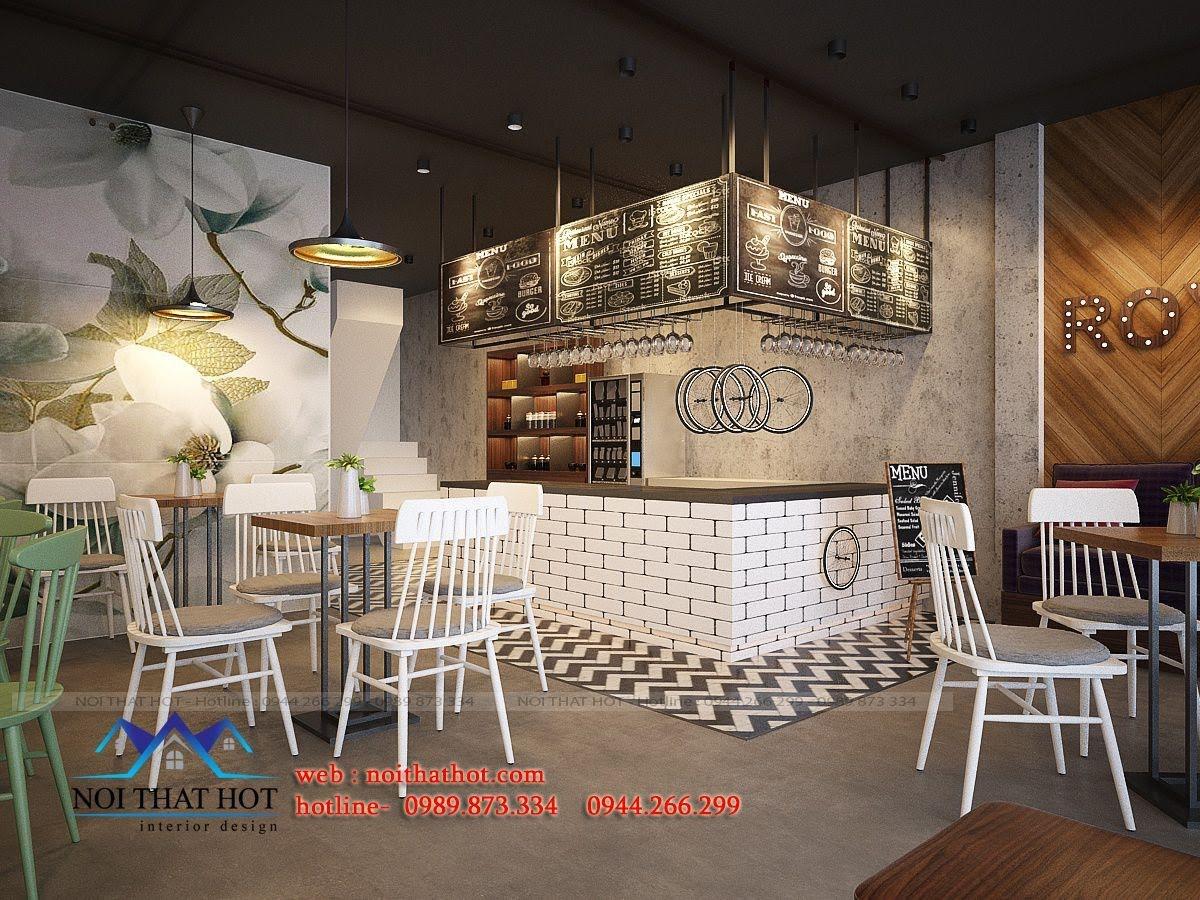 thiết kế quán trà sữa royal tea 3