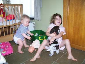Photo: De goede socialisatie van IRKO samen met Nora en Ine