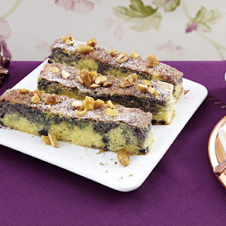 Marbled Blueberry Almond Cake Bars