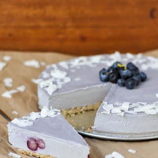 Lemon Blueberry Raw Cheesecake (Paleo, Vegan, Gluten Free)