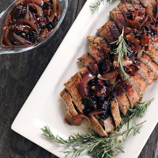 Maple Pork Tenderloin with Rosemary Cherry Pan Sauce