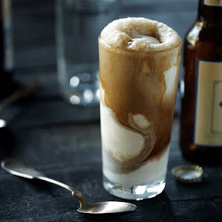 Stout Float with Chocolate Foam.