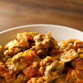 Eggplant Mushroom Curry.