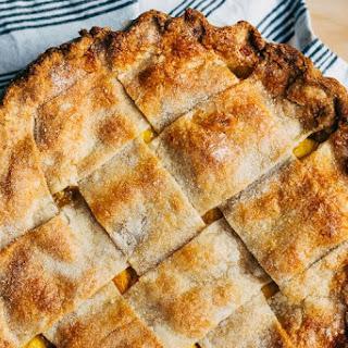 Wide Lattice Peach Pie with Tarragon Butter