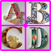 Quilling Paper Alphabets