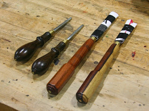 Photo: On the Show & Tell table, we see a set of fine tools made by the late, great Michael Blake...