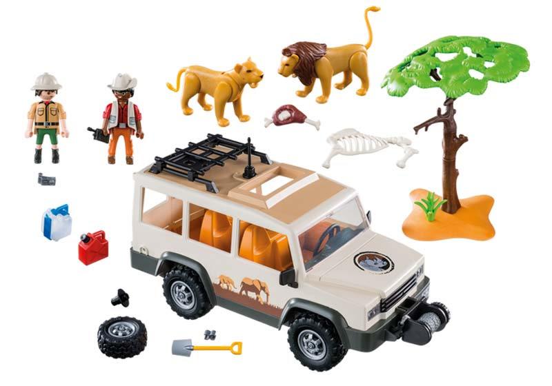 Contenido real de Playmobil® 6798 Vehículo Safari con Leones