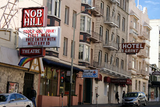 "Photo: Did we go to the Castro district? No, not this time, but still saw glimpses of San Francisco's ""Fabulous"" lifestyle. I like the hotel name next door, too."