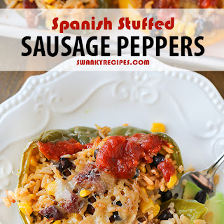 Spanish Stuffed Sausage Peppers