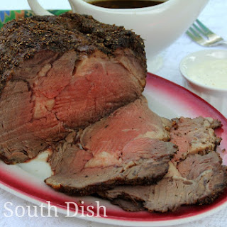 Boneless Prime Rib Beef Roast with au Jus.