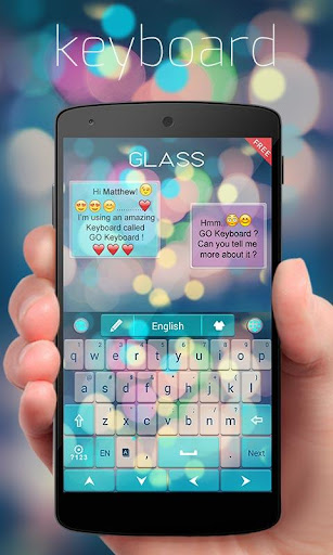 Free Z Glass GO Keyboard Theme  screenshots 1