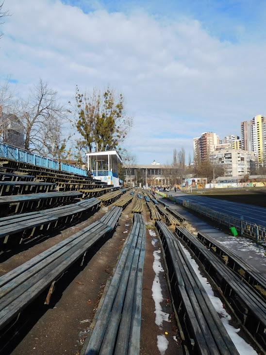 Das Start-Stadion heute, im Norden von Kiew.