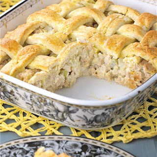 Savoury Turkey Veronique Rustic Meat Pie.