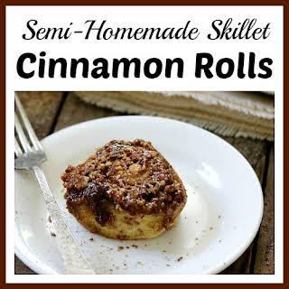 Semi-Homemade Skillet Cinnamon Rolls.