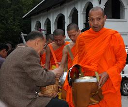 Photo: Day 271 - Monks Receiving Their Alms, Luang Prabang (Laos)