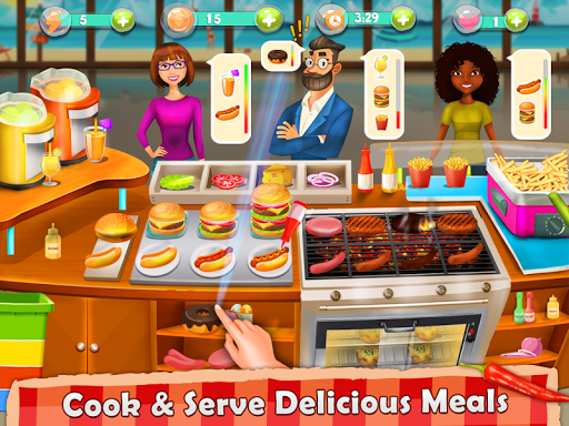 Cooking Island - A Chef's Cooking Game for Girls android2mod screenshots 16