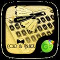 Download PERSONALIZATION Gold & Black Keyboard Theme APK