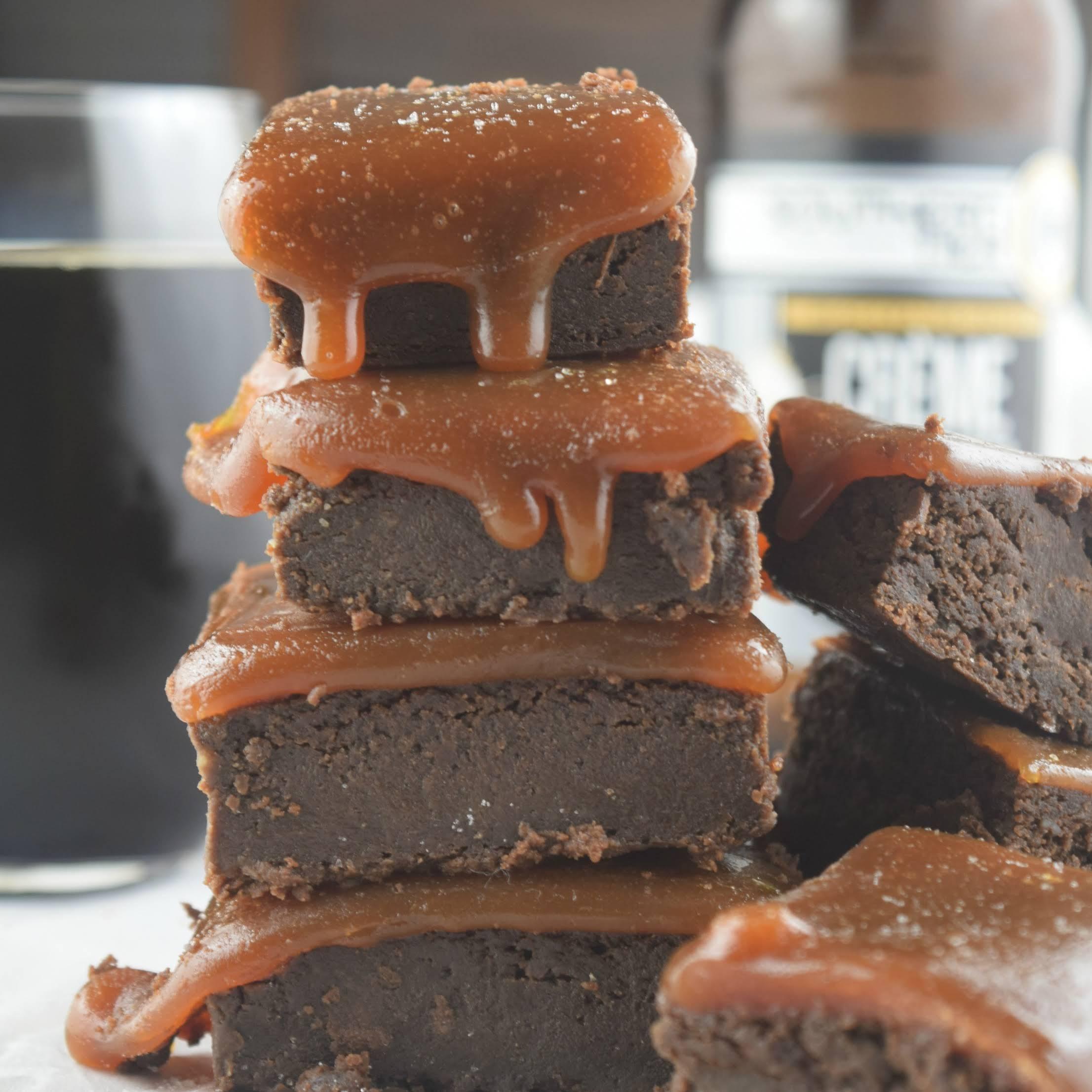 Creme Brulee Stout Salted Caramel Brownies